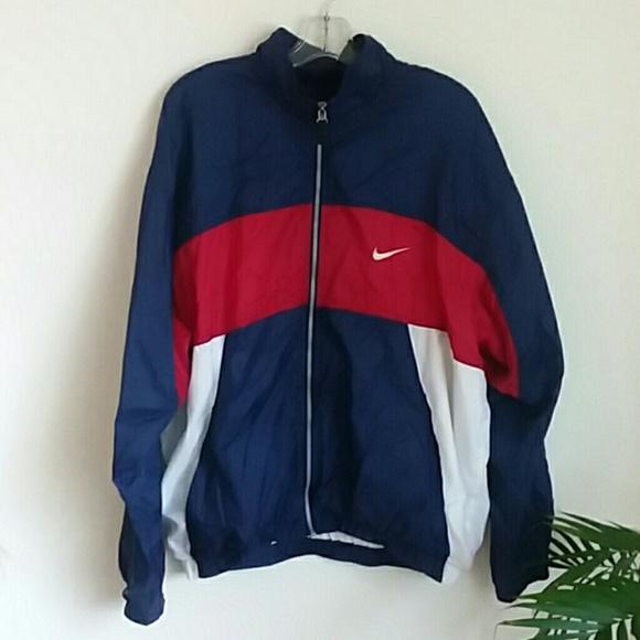 961dc71747b24 Nike vintage windbreaker jacket red blue mens xl